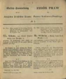 Gesetz-Sammlung für die Königlichen Preussischen Staaten. 1870.01.11 No1