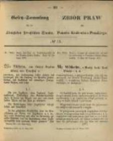Gesetz-Sammlung für die Königlichen Preussischen Staaten. 1870.03.12 No11