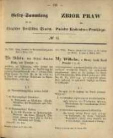 Gesetz-Sammlung für die Königlichen Preussischen Staaten. 1870.03.22 No15