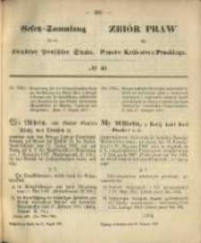 Gesetz-Sammlung für die Königlichen Preussischen Staaten. 1870.08.31 No40