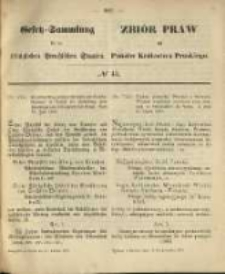 Gesetz-Sammlung für die Königlichen Preussischen Staaten. 1870.10.11 No43