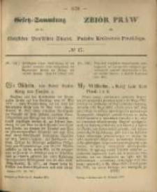 Gesetz-Sammlung für die Königlichen Preussischen Staaten. 1870.11.25 No47