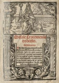 Missale Cracoviensis dyocesis