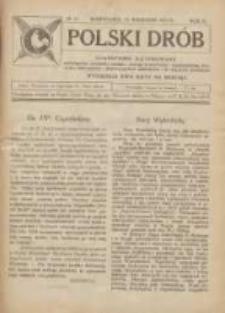Polski Drób: czasopismo ilustrowane poświęcone hodowli drobiu, gołębi rasowych i pocztowych, ptactwa ozdobnego i śpiewającego, królików i in. małych zwierząt 1923.09.25 R.2 Nr18