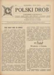 Polski Drób: czasopismo ilustrowane poświęcone hodowli drobiu, gołębi rasowych i pocztowych, ptactwa ozdobnego i śpiewającego, królikow, psów, kotów oraz sprawom przemysłu i handlu produktami drobiowemi 1924.05.01 R.5 Nr9