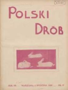 Polski Drób: organ Centralnego Komitetu do Spraw Hodowli Drobiu w Polsce 1928.09.01 R.7 Nr17