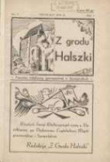 Z Grodu Halszki: pisemko młodzieży gimnazjalnej w Szamotułach 1931 kwiecień R.1 Nr2