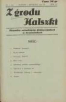 Z Grodu Halszki: pisemko młodzieży gimnazjalnej w Szamotułach 1933 marzec/kwiecień R.4 Nr2