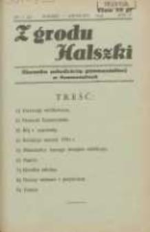 Z Grodu Halszki: pisemko młodzieży gimnazjalnej w Szamotułach 1934 marzec/kwiecień R.5 Nr7