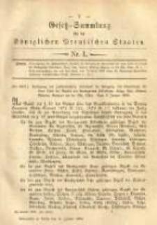 Gesetz-Sammlung für die Königlichen Preussischen Staaten. 1883.01.15 No1