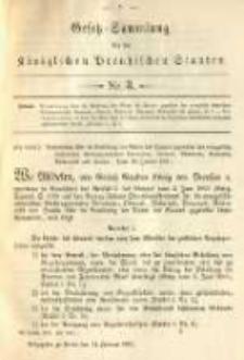 Gesetz-Sammlung für die Königlichen Preussischen Staaten. 1891.01.14 No3
