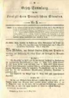 Gesetz-Sammlung für die Königlichen Preussischen Staaten. 1891.03.19 No5