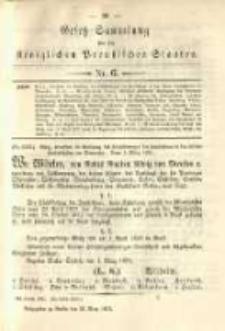 Gesetz-Sammlung für die Königlichen Preussischen Staaten. 1891.03.25 No6