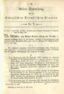 Gesetz-Sammlung für die Königlichen Preussischen Staaten. 1891.03.28 No7