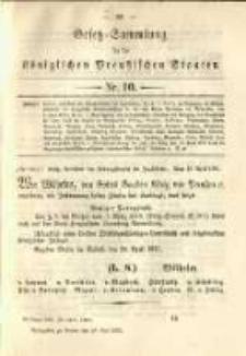 Gesetz-Sammlung für die Königlichen Preussischen Staaten. 1891.05.28 No10