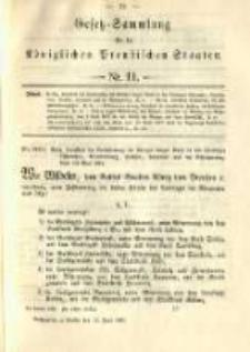 Gesetz-Sammlung für die Königlichen Preussischen Staaten. 1891.06.12 No11