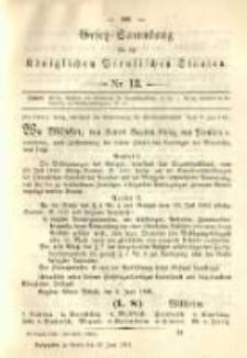Gesetz-Sammlung für die Königlichen Preussischen Staaten. 1891.06.17 No13