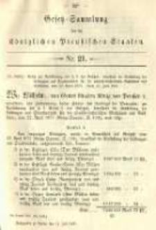 Gesetz-Sammlung für die Königlichen Preussischen Staaten. 1891.07.11 No21