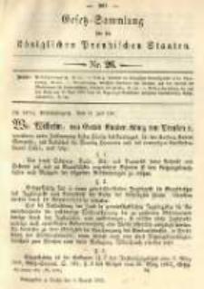 Gesetz-Sammlung für die Königlichen Preussischen Staaten. 1891.08.04 No26