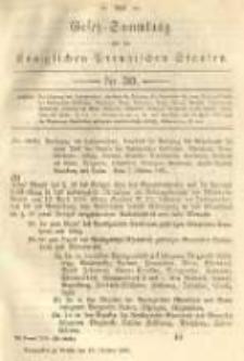 Gesetz-Sammlung für die Königlichen Preussischen Staaten. 1891.10.19 No30
