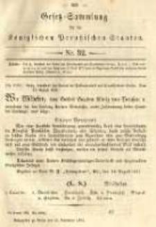 Gesetz-Sammlung für die Königlichen Preussischen Staaten. 1891.11.21 No32