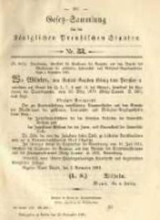 Gesetz-Sammlung für die Königlichen Preussischen Staaten. 1891.11.23 No33