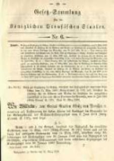 Gesetz-Sammlung für die Königlichen Preussischen Staaten. 1892.03.31 No6
