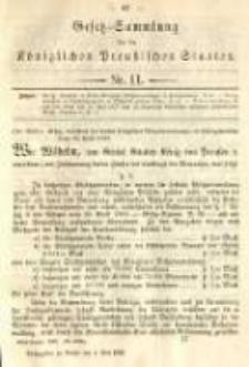 Gesetz-Sammlung für die Königlichen Preussischen Staaten. 1892.05.04 No11