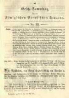 Gesetz-Sammlung für die Königlichen Preussischen Staaten. 1892.05.19 No12