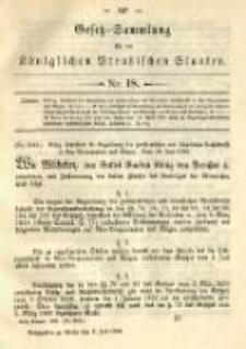 Gesetz-Sammlung für die Königlichen Preussischen Staaten. 1892.07.02 No18