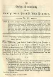 Gesetz-Sammlung für die Königlichen Preussischen Staaten. 1892.07.22 No21