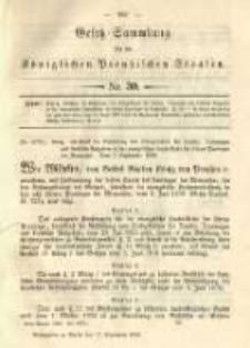 Gesetz-Sammlung für die Königlichen Preussischen Staaten. 1892.09.17 No30