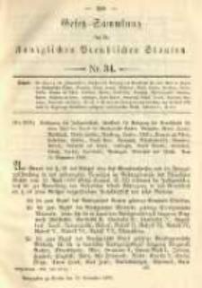 Gesetz-Sammlung für die Königlichen Preussischen Staaten. 1892.11.24 No34