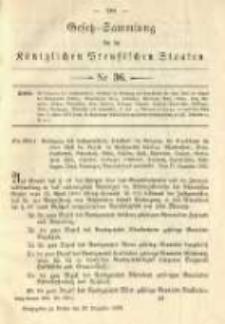 Gesetz-Sammlung für die Königlichen Preussischen Staaten. 1892.12.28 No36