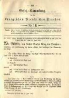 Gesetz-Sammlung für die Königlichen Preussischen Staaten. 1891.06.27 No16