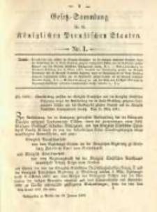 Gesetz-Sammlung für die Königlichen Preussischen Staaten. 1892.01.16 No1