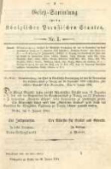 Gesetz-Sammlung für die Königlichen Preussischen Staaten. 1894.01.24 No1