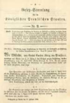 Gesetz-Sammlung für die Königlichen Preussischen Staaten. 1894.02.17 No2
