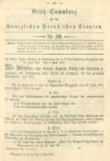 Gesetz-Sammlung für die Königlichen Preussischen Staaten. 1894.05.02 No10