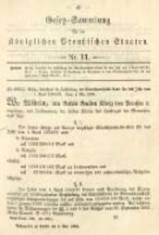 Gesetz-Sammlung für die Königlichen Preussischen Staaten. 1894.05.05 No11