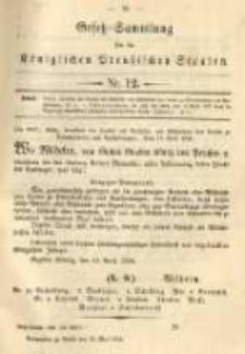 Gesetz-Sammlung für die Königlichen Preussischen Staaten. 1894.05.11 No12