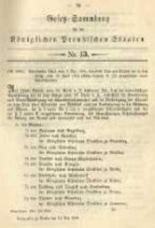 Gesetz-Sammlung für die Königlichen Preussischen Staaten. 1894.05.12 No13