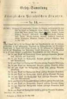 Gesetz-Sammlung für die Königlichen Preussischen Staaten. 1894.05.29 No14