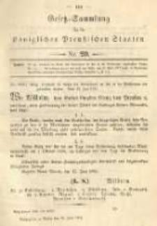 Gesetz-Sammlung für die Königlichen Preussischen Staaten. 1894.06.26 No20