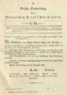 Gesetz-Sammlung für die Königlichen Preussischen Staaten. 1894.12.31 No34