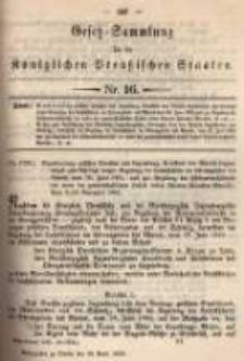 Gesetz-Sammlung für die Königlichen Preussischen Staaten. 1895.04.26 No16