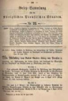 Gesetz-Sammlung für die Königlichen Preussischen Staaten. 1895.06.29 No22