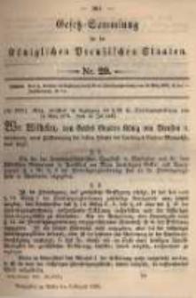 Gesetz-Sammlung für die Königlichen Preussischen Staaten. 1895.08.06 No29