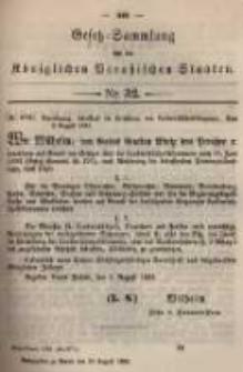 Gesetz-Sammlung für die Königlichen Preussischen Staaten. 1895.08.20 No32