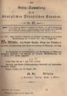 Gesetz-Sammlung für die Königlichen Preussischen Staaten. 1895.08.31 No37